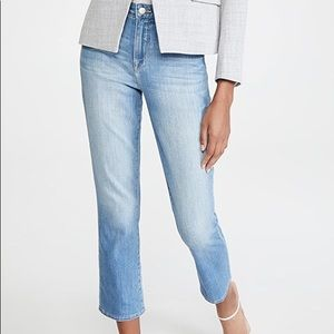 L'AGENCE Nadia high rise cropped straight leg new